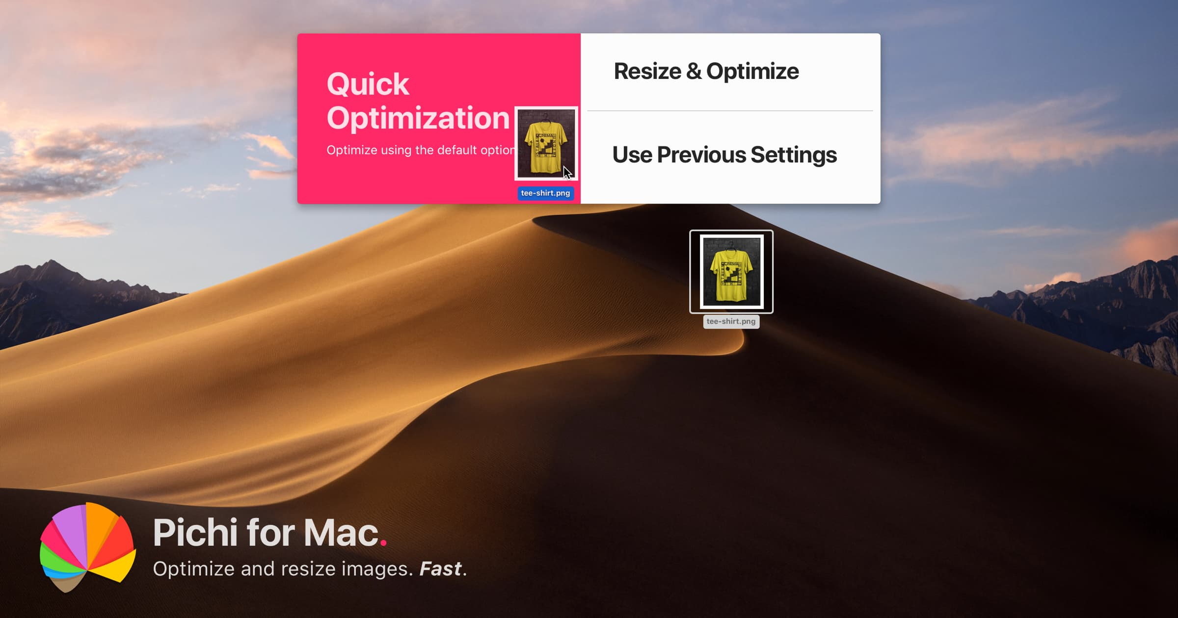 Pichi for Mac - Optimize and resize your images without taking a hit in quality